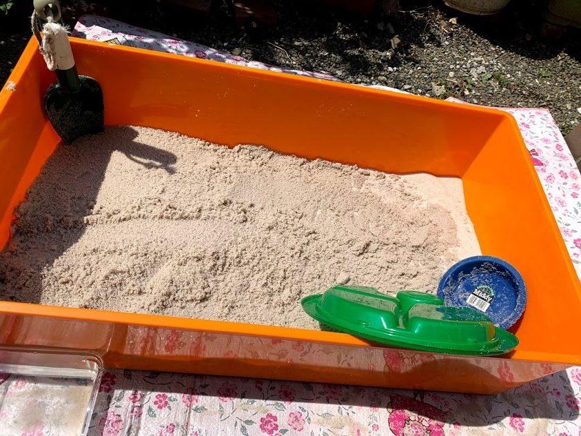 お家遊び 砂場 簡易