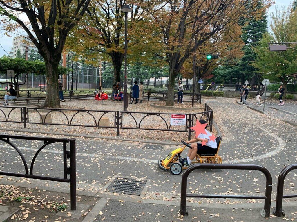 子連れ都内の公園 ミニSL ミニカート 世田谷公園